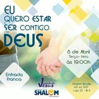 Photo taken at Centro de Evagelização Comunidade Católica Shalom by Willian A. on 4/8/2014