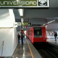 Photo taken at Metro Universidad (Línea 3) by Rolando R. on 12/1/2012