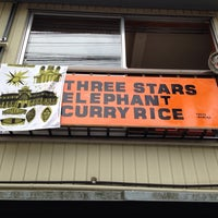 Photo taken at three stars elephant curry rice by ama t. on 9/4/2014