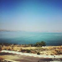 Photo taken at Sea of Galilee - Kinneret (כנרת) by milind s. on 9/14/2012