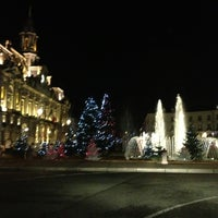 Photo taken at Place Jean Jaurès by Romeo P. on 12/23/2012