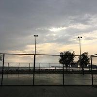 Photo taken at Bostanlı Basketbol Sahası by Fatih Y. on 6/8/2017