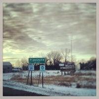 Photo taken at Pipestone, MN by Sara R. on 12/26/2012