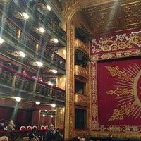 Photo taken at Teatro Español by Pepe O. on 3/30/2013