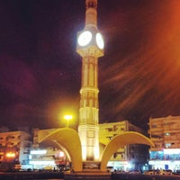 Photo taken at Sharjah Clock Tower by Shithin R. on 4/22/2013