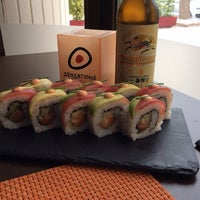 Photo taken at Sensations Sushi Marbella by Lisa M. on 10/3/2014