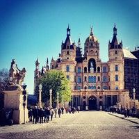 Photo taken at Schweriner Schloss by Silvan D. on 5/1/2013