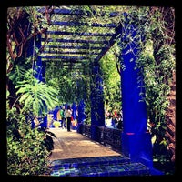 Photo taken at Jardin de Majorelle by Salim L. on 3/23/2013