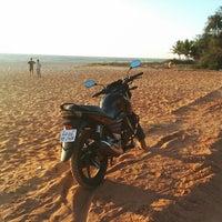 Photo taken at Padubidri Beach by Karthick R. on 3/1/2014