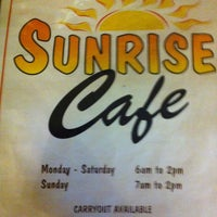 Photo taken at Sunrise Cafe by Candice T. on 12/2/2012