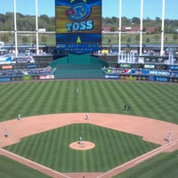 Photo taken at Kauffman Stadium by Emily D. on 9/23/2012