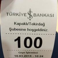 Photo taken at Turkiye is bankasi kapakli subesi by Mehmet Ali Y. on 3/10/2015