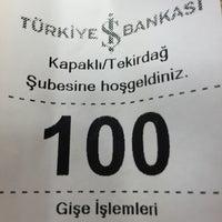 Photo taken at Turkiye is bankasi kapakli subesi by Mehmet Ali Y. on 2/12/2015