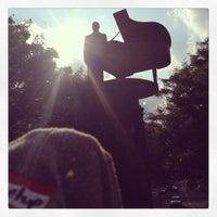 Photo taken at Duke Ellington Memorial by Robert Graham by Linz S. on 6/9/2013