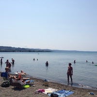Photo taken at Spiaggia Libera Lago di Bolsena by Lorenzo S. on 8/15/2013