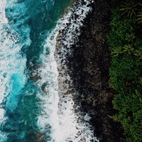 Photo taken at Ke'e Beach by Tobias K. on 4/3/2018