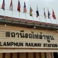 Photo taken at Lam Phun Railway Station (SRT1216) by Jay B. on 9/24/2016