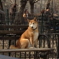 Photo taken at Tompkins Square Park Dog Run by Bonnie C. on 4/7/2013