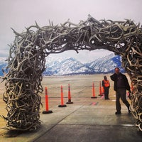 Photo taken at Jackson Hole Airport (JAC) by Bonnie C. on 3/15/2013