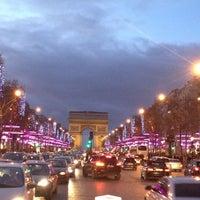 Photo taken at Avenue des Champs-Élysées by Christian B. on 12/31/2012