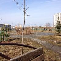 Photo taken at Скамейка с видом на овраг и гаражи by Ekaterina C. on 3/22/2014