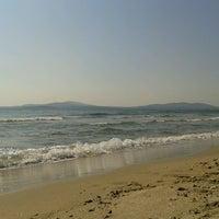 Photo taken at Южен плаж Бургас (South Beach) by Ралица Н. on 7/17/2013