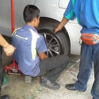 Photo taken at Tyre Plus (Michelin) by Asfarizal A. on 6/24/2013