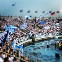 Photo taken at Стадион «Петровский» by Evgeny V. on 5/19/2013