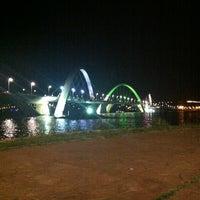 Photo taken at Orla da Ponte JK by g. g. on 1/1/2013