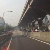 Photo taken at Sutthisan Intersection by YoNgYeE on 4/9/2013