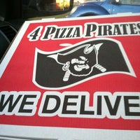 Photo taken at 4 Pizza Pirates by Michael E. on 4/6/2013