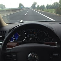 Photo taken at Autostrada A13 by Daniele C. on 10/19/2013