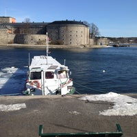 Photo taken at Ångbåtsbryggan Vaxholm by Mauro B. on 3/30/2013