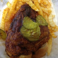 Photo taken at Prince's Hot Chicken Shack by Angela S. on 12/20/2012