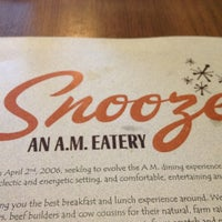 Photo taken at Snooze by Megan F. on 2/23/2013