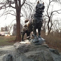 Photo taken at Balto Statue by Olivia H. on 1/7/2013