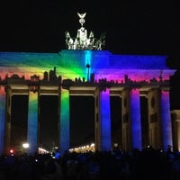 Photo taken at Brandenburg Gate by Marc G. on 10/10/2013