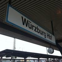 Photo taken at Würzburg Hauptbahnhof by Marc G. on 4/27/2013