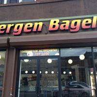 Photo taken at Bergen Bagels by Stephen T. on 4/16/2013