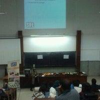 Photo taken at Faculté Des Sciences Mohamed V by Wiam D. on 12/8/2012