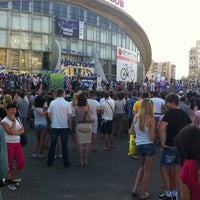 "Photo taken at Площадь перед ЛДС ""Кристалл"" by Ирина Д. on 6/28/2013"