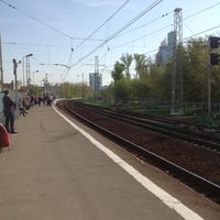 Photo taken at Ж/Д станция Фили by Ann K. on 5/10/2013