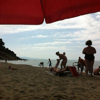 Photo taken at Capezzolo Beach by Max S. on 8/14/2013