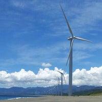 Photo taken at Bangui Windmills by La V. on 5/19/2013