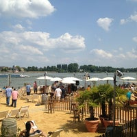 Photo taken at Mainz Strand by Micho B. on 7/6/2013