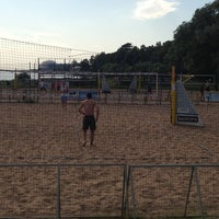 Photo taken at Elagin Volleyball Beach Resort by Anna A. on 6/6/2013