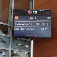 Photo taken at Выход 32 / Gate 32 (D) by Екатерина У. on 7/4/2013