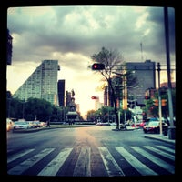 Photo taken at Av. Paseo de la Reforma by Mario L. on 1/12/2013