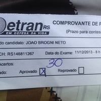 Photo taken at DETRAN/RS - Departamento Estadual de Trânsito by Neto B. on 12/11/2013