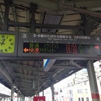 Photo taken at 松江駅 3-4番ホーム by ルビナス on 8/10/2014